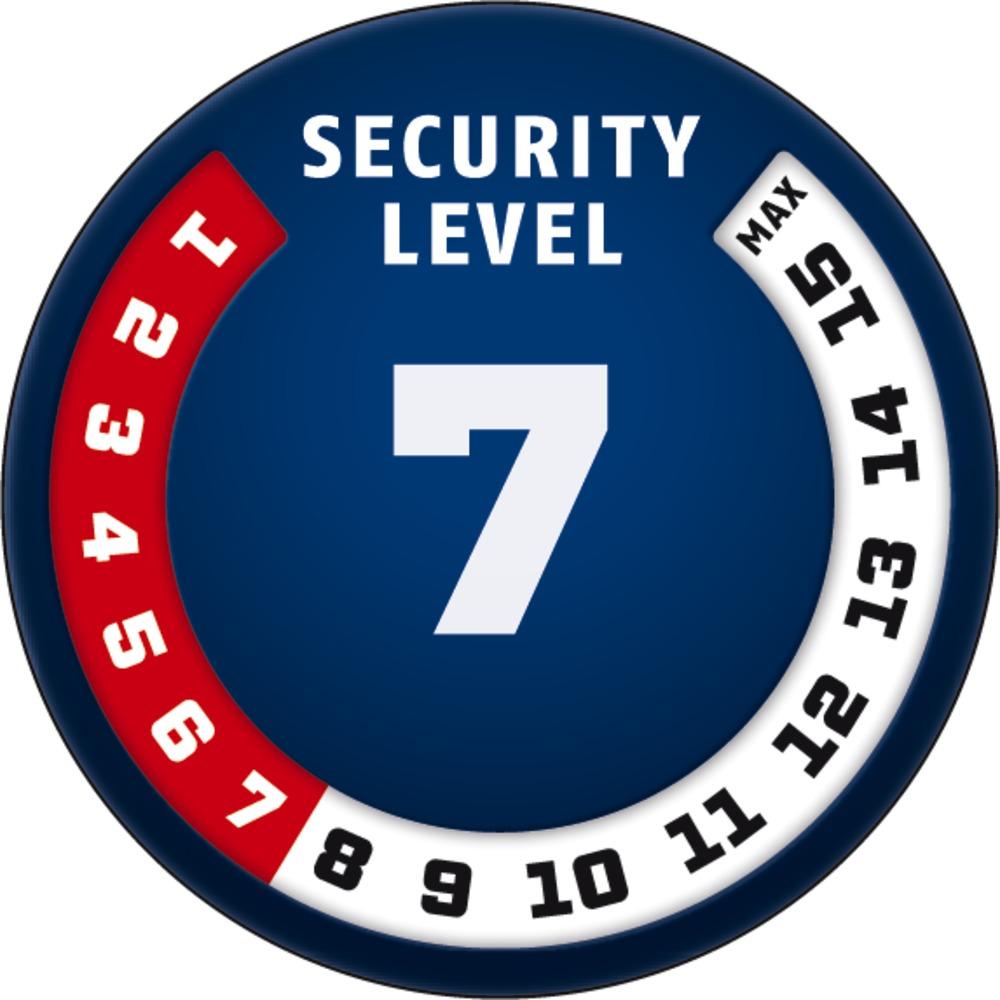Level 7 ABUS GLOBAL PROTECTION STANDARD ® Ein höherer Level entspricht mehr Sicherheit
